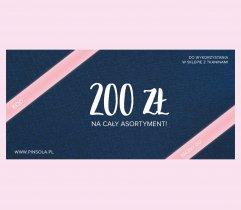 Bon podarunkowy o wartości 200 zł (elektroniczny)