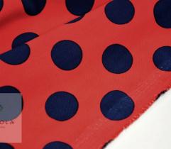 Silki grochy 2 cm granat