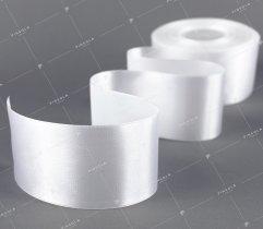 Wstążka atłasowa 50 mm biała (527)