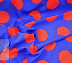 Woven Silki red polka dot - 6cm