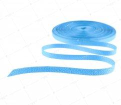 Taśma bawełniana 10 mm niebieska jodełka (1058)