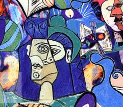 SILKI CREPE PICASSO BLUE