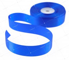 WSTĄŻKA ATŁASOWA ROYAL BLUE 25 MM (519)