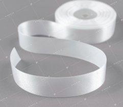 Wstążka atłasowa biała 25 mm (523)