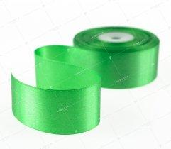 Wstążka atłasowa zielona 38 mm (505)