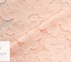 Plen - stable lace, salmon pink flowers