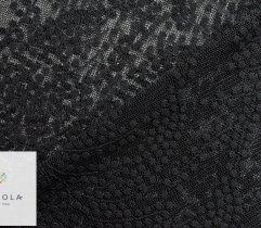 Koronka plen czarna gałązki z wykończeniem