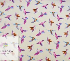 Woven Rayon - humming birds