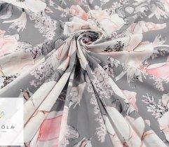 Silki pudrowe kwiaty na szarym tle