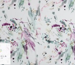 Silki akwarela fiolet na białym