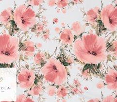 Silki łososiowe kwiaty na białym tle