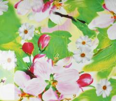 Satyna kwiaty green