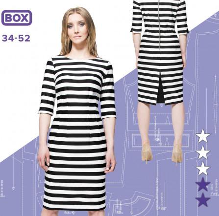 c13e6eb3 Sukienka Hania 34-52 wydruk wielkoformatowy i surowce | Pinsola