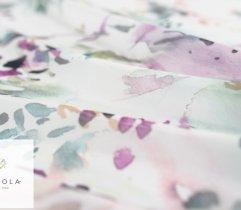 Szyfon akwarela fiolet na białym tle