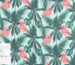Szyfon tropikalne liście i flamingi