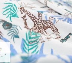 Jersey single żyrafy i liście