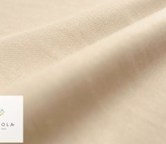 Linen-cotton fabric (linen), dark beige