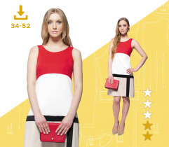 Karolina dress 34-52 A4 files