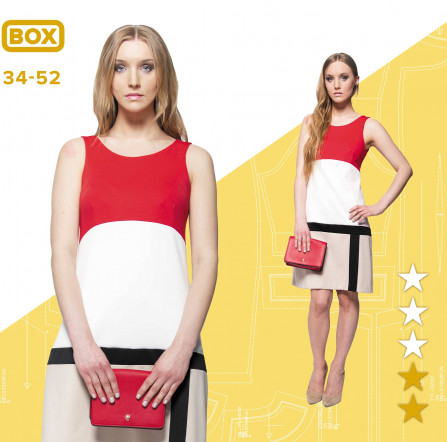 8d3dd1a0 Sukienka Karolina 34-52 wydruk wielkoformatowy i surowce | Pinsola
