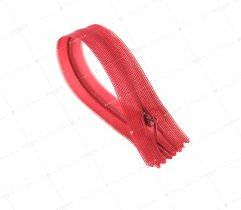 Zipper, covered - red 20 cm  (668)