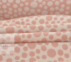 Woven reversible Jacquard - rose circles