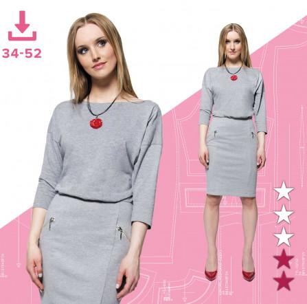 fedf83ea Sukienka Ewa 34-52 Plik A4 | Pinsola