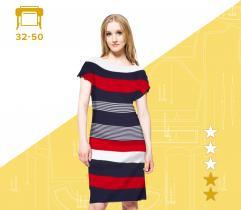 Wykrój sukienki Joanna 32-50 plik A4