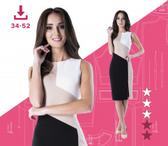 Angelika dress 34-52 A4 file