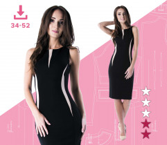 Alicja dress 34-52 A4 file