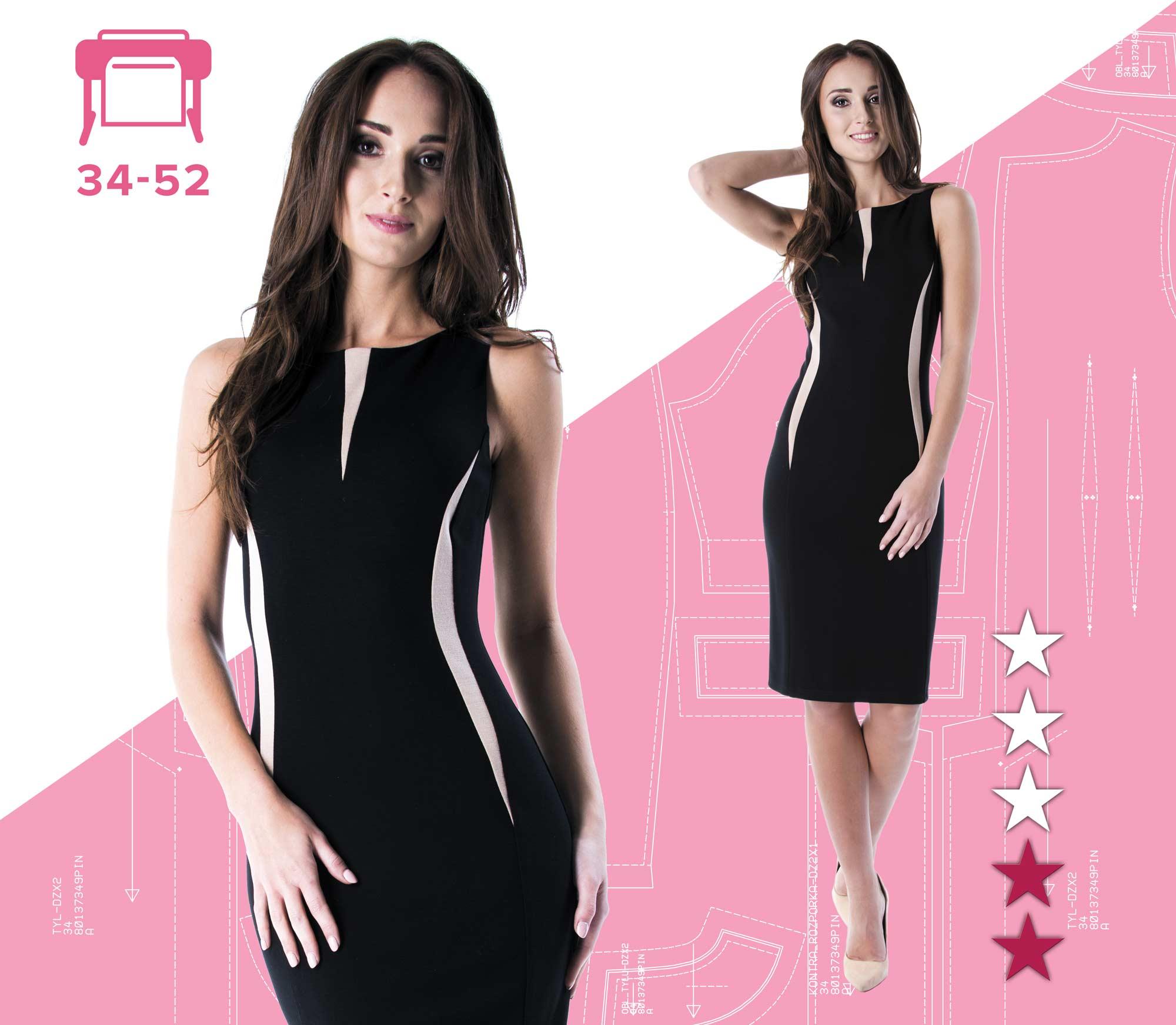 86998a1a Sukienka Alicja 34-52 wydruk wielkoformatowy | Pinsola