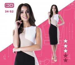 Wykrój sukienki Angelika 34-52 wydruk wielkoformatowy i surowce