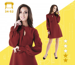 Wykrój sukienki Martyna 34-52 wydruk wielkoformatowy