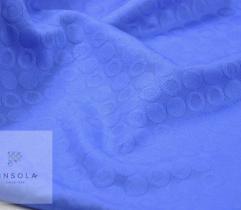Woven Jacquard royal blue circles