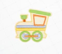 Naprasowanka lokomotywa seledynowa (2173)