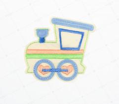 Naprasowanka lokomotywa błękitna (2174)