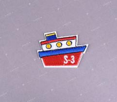 Naprasowanka czerwony statek (2226)