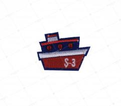 Naprasowanka granatowy statek (2225)