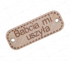 Aplikacja drewniana babcia (2229)