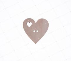 Aplikacja drewniana serce (2228)