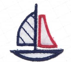 Naprasowanka łódka granatowo czerwona (2252)