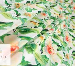 Silki żonkile i liście