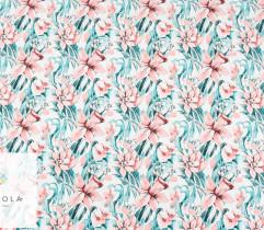 Silki pudrowe kwiaty żonkile
