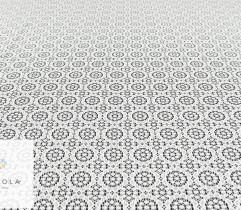 Koronka plen stabilny biały kółka