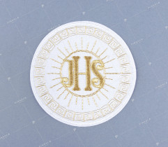Emblemat hostia komunijna złota
