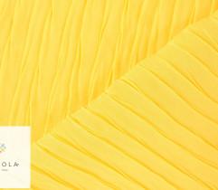 Tkanina plisowana szyfon żółty
