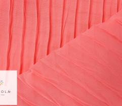 Tkanina plisowana szyfon malinowy