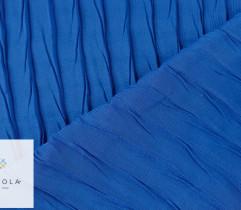 Tkanina plisowana szyfon chabrowy