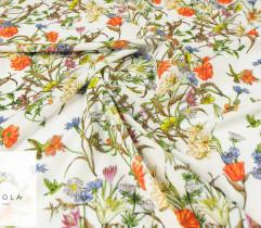 Silki kolorowa łąka kwiaty na ecru