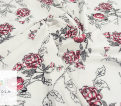 Silki różowe kwiaty peonie