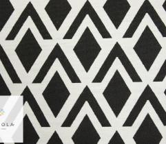 Żakard bawełniany czarno biały